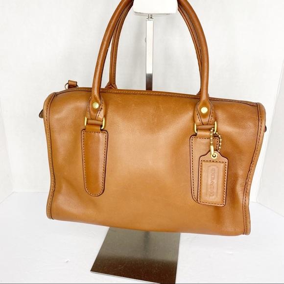 Vintage coach leather satchel bag purse